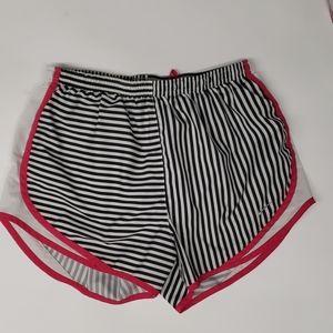 Nike Dri Fit Black & White Striped Shorts Size M